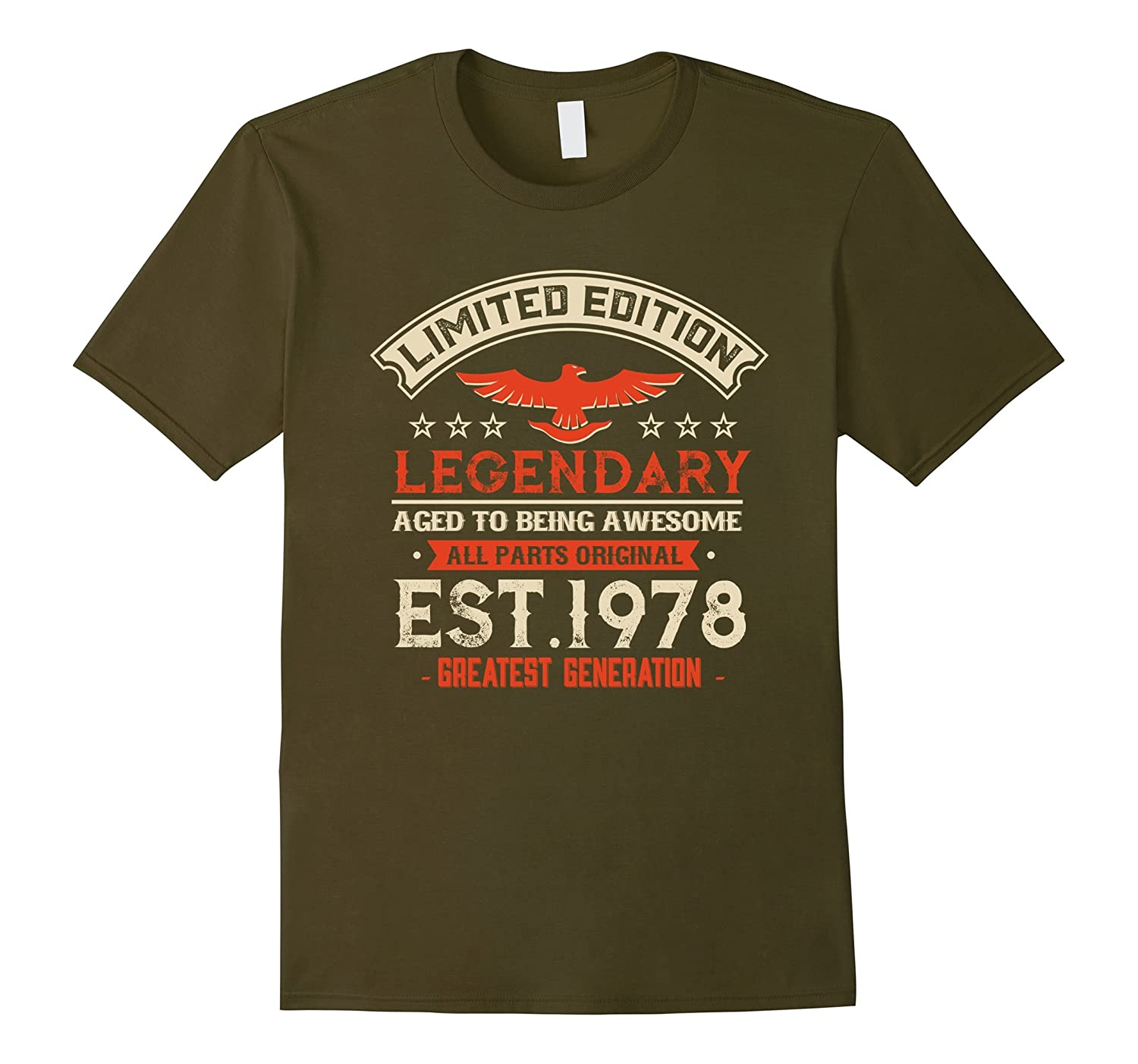 Vintage Born in 1978 39th Birthday 39 Years Old Awesome USA-BN