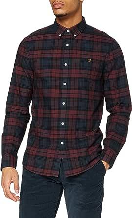 Farah Brewer Check Camisa para Hombre