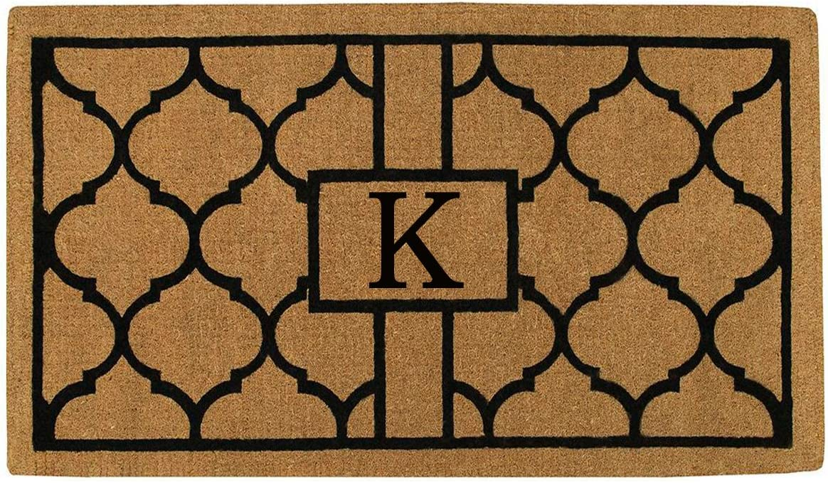 Home More 180082436K Pantera 2 X 3 Extra-Thick Monogrammed Doormat Letter K