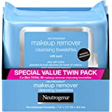 Neutrogena Makeup Remover Cleansing Face Wipes, Daily Cleansing Facial Towelettes to Remove Waterproof Makeup and Mascara, Al