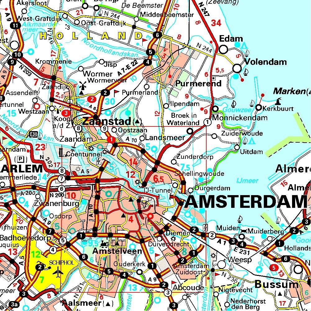 Carte Hollande Touristique.Amazon Fr Carte National Pays Bas Collectif Michelin