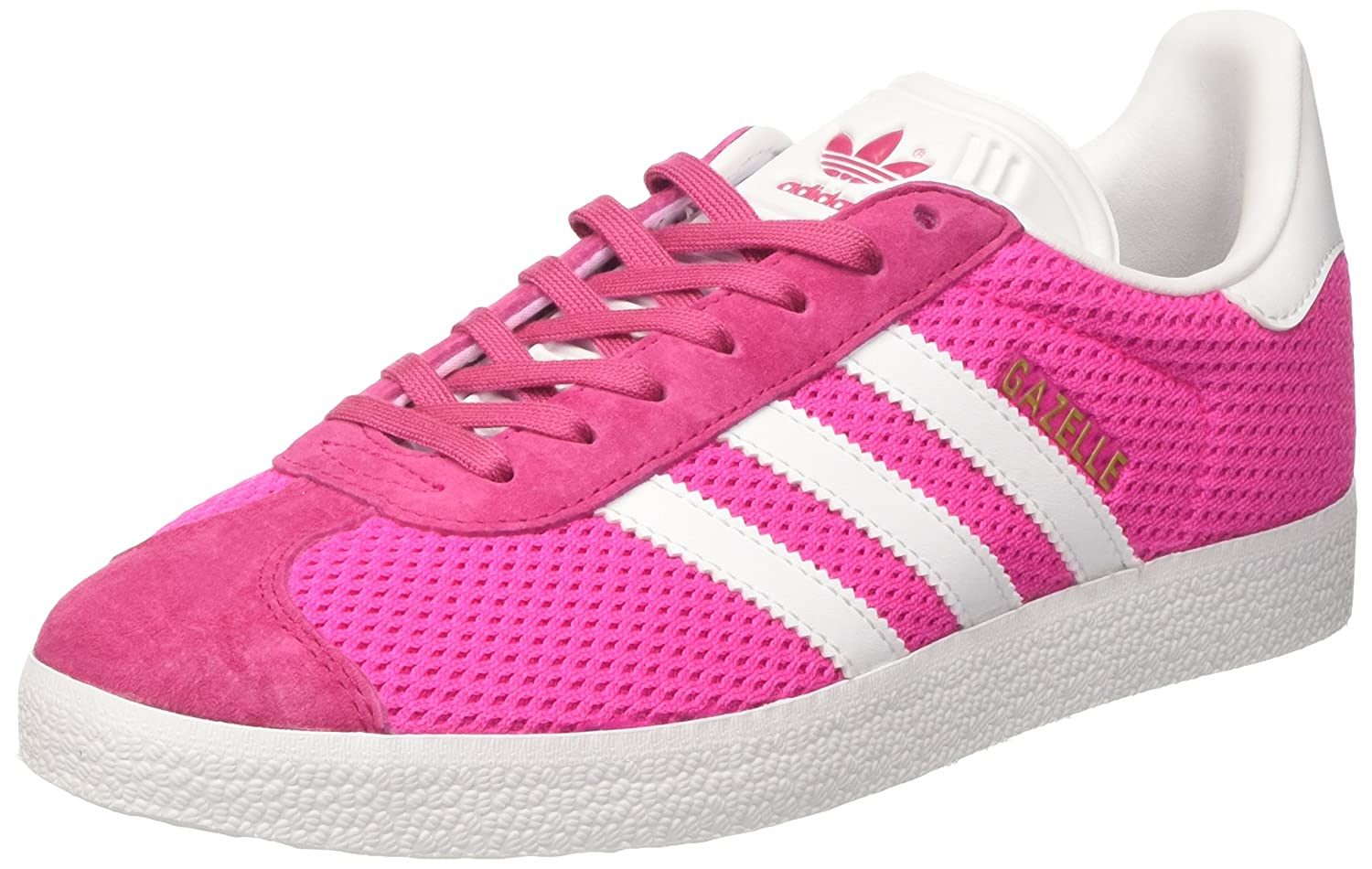 Adidas Originals Gazelle, Zapatillas de Deporte Unisex Adulto 41 1/3 EU|Varios Colores (Shock Pink/Footwear White/Shock Pink)