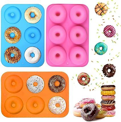 Oferta amazon: Ossky 3 Piezas Molde para Donut de Silicona ,Molde de Donuts con 6 Cavidades,Antiadherente Molde de Silicona Apto para Lavavajillas, Horno,Molde para Pasteles Molde para Hornear Molde para Donut