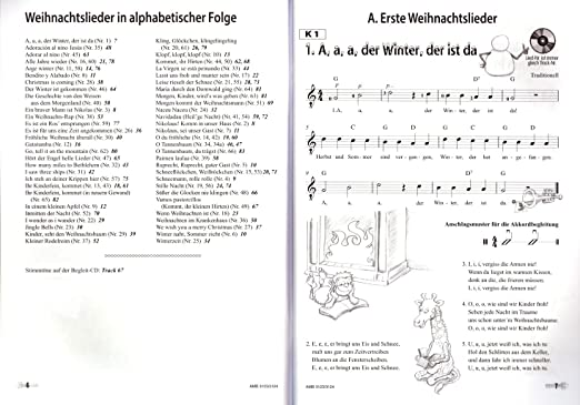 Weihnachtslieder Alphabetisch.Moro Und Lilli Das Weihnachtsalbum Weihnachtslieder Für Gitarre Mit Cd Plek Weihnachtskalender Bunter Herzförmiger Notenklammer Viele Schlag