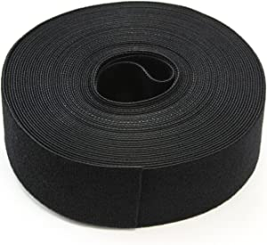 30FT Reusable 1.5 Inch Roll Hook & Loop Cable Fastening Tape Cord Wraps Straps