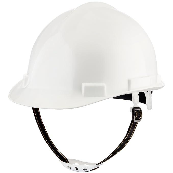 nocry Heavy Duty Hard Hat - construcción casco de seguridad ajustable con sistema de suspensión de 4 puntos, 5 cm ala para protección solar y flexible ...
