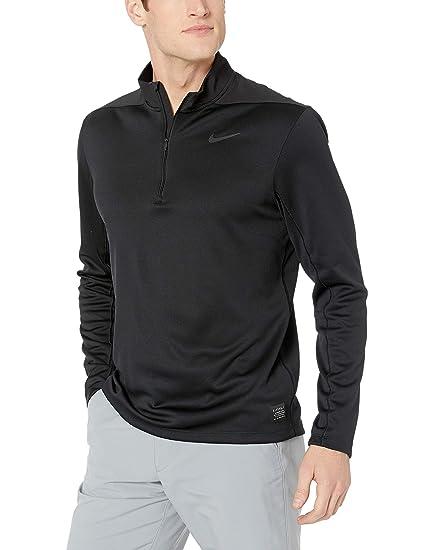 6890b020 Nike Men's Dry Top Half Zip core, Black/Black/Black/Black,