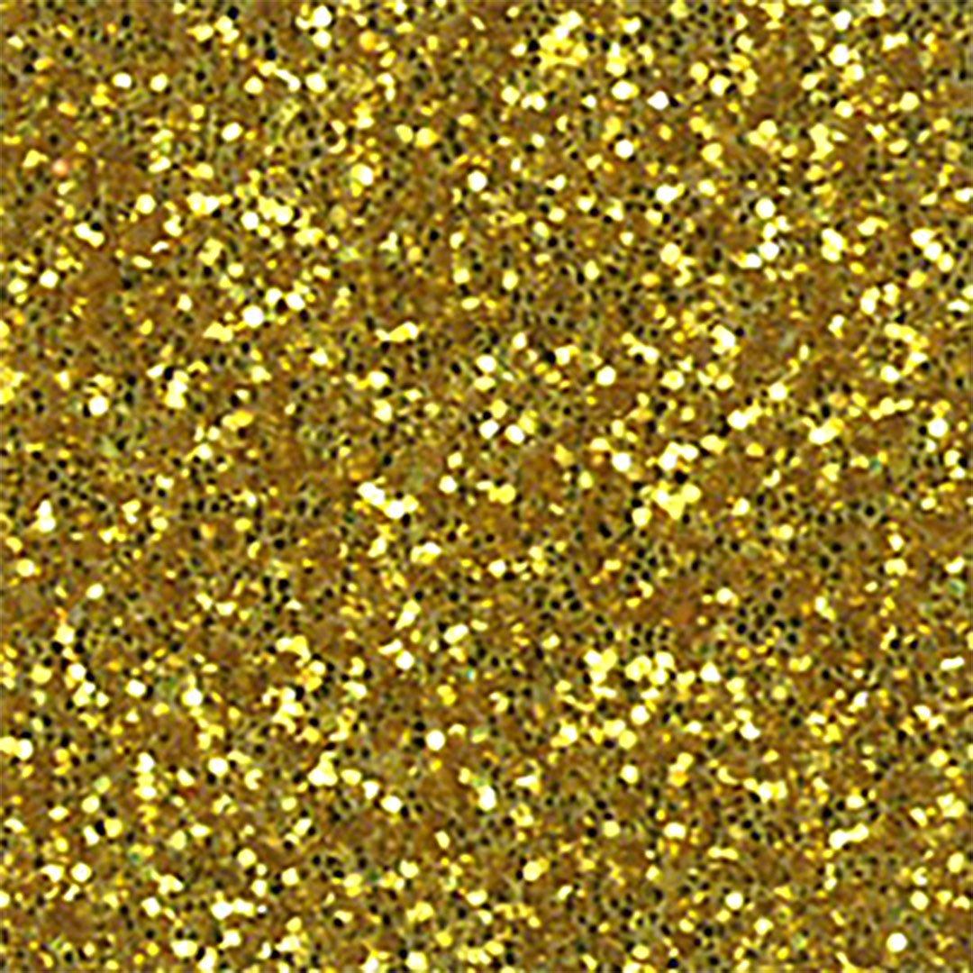 Glitter Heat Transfer Vinyl 20'' x Yard (Gold) by All American