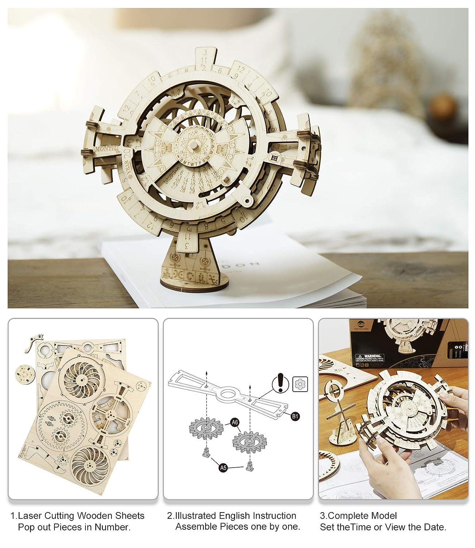 3D Puzzle Spielzeug Gehirn Teaser DIY Geb/äude Modell f/ür Kinder ROBOTIME Elephant Wooden Puzzle