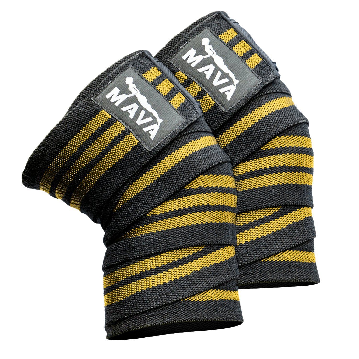 Knee Wraps for Exercise, Martial Art, Tennis, Weight Lifting, Running and Other Sports Needing Extra Support, Bracing Or Compression - Adjust Tension with Our Compression Wraps