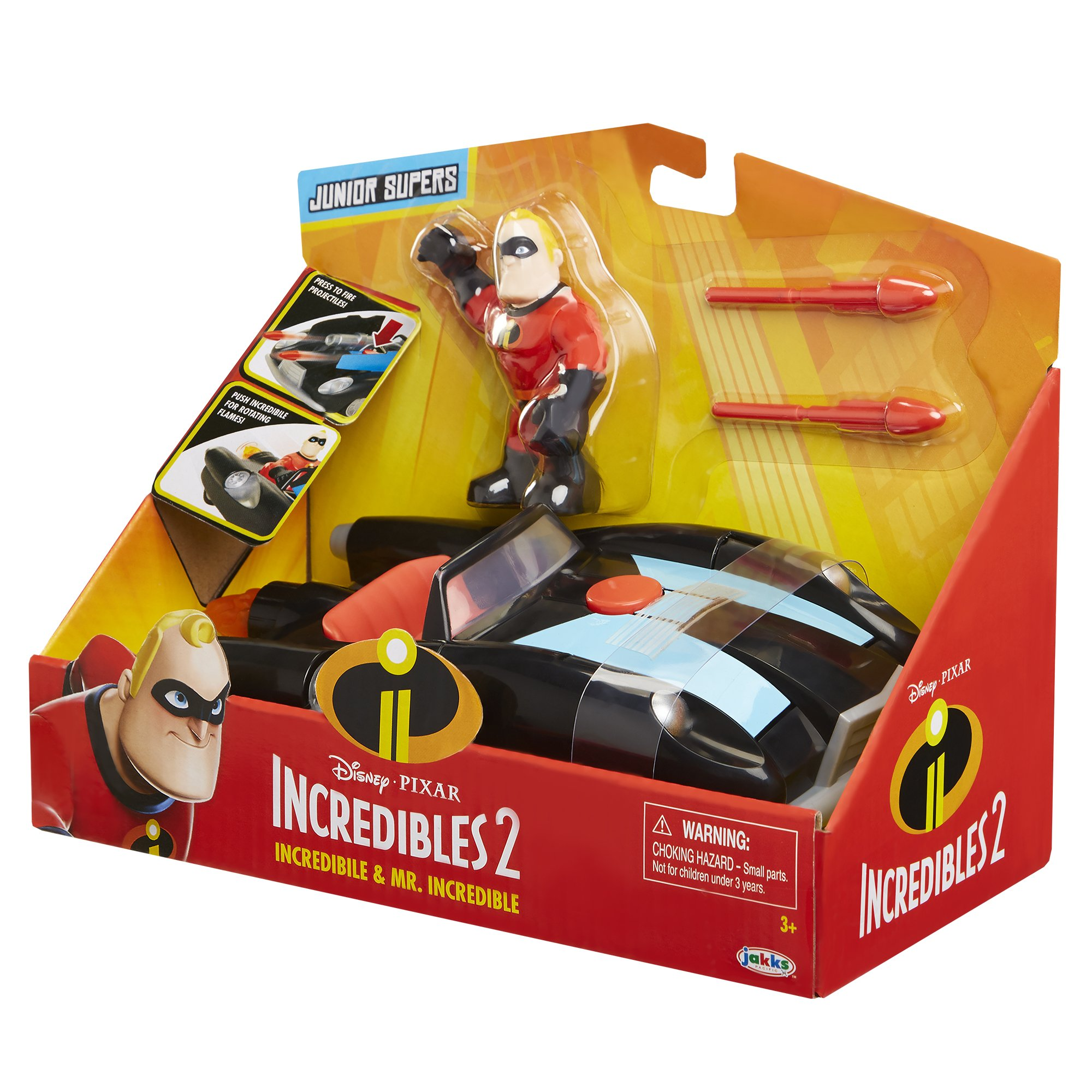 The Incredibles 2 Incredibile Car & Mr. Incredible Action Figure 2-Piece Set, Black Car and Red Mr. Incredible Figure, Medium by The Incredibles 2 (Image #6)