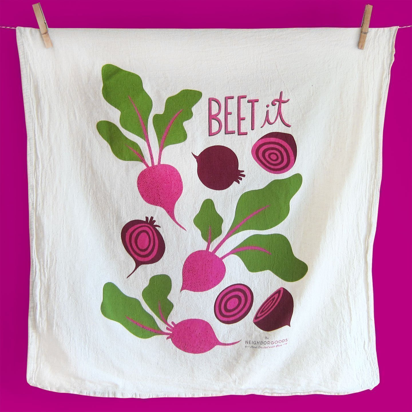 Beet it Kitchen Flour Sack Towel