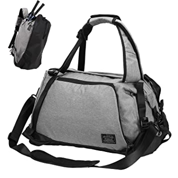 Amazon.com   Sports Gym Bag, Lifeasy 3 in 1 Travel Duffle Bags with Shoes  Compartment Weekender Workout Backpack for Men and Women (Grey)   Sports  Duffels 131feebf46