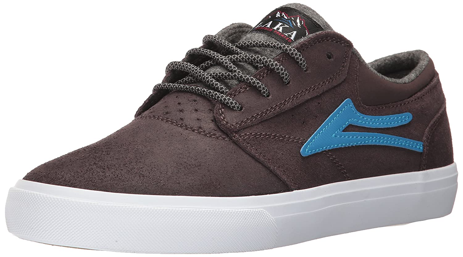 Lakai Griffin WT Skate Shoe 10 M US|Brown Oiled Suede