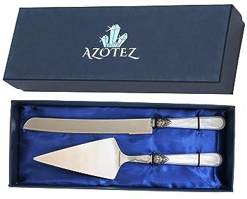 Azotez - Juego de cuchillos y cuchillos para tartas ...