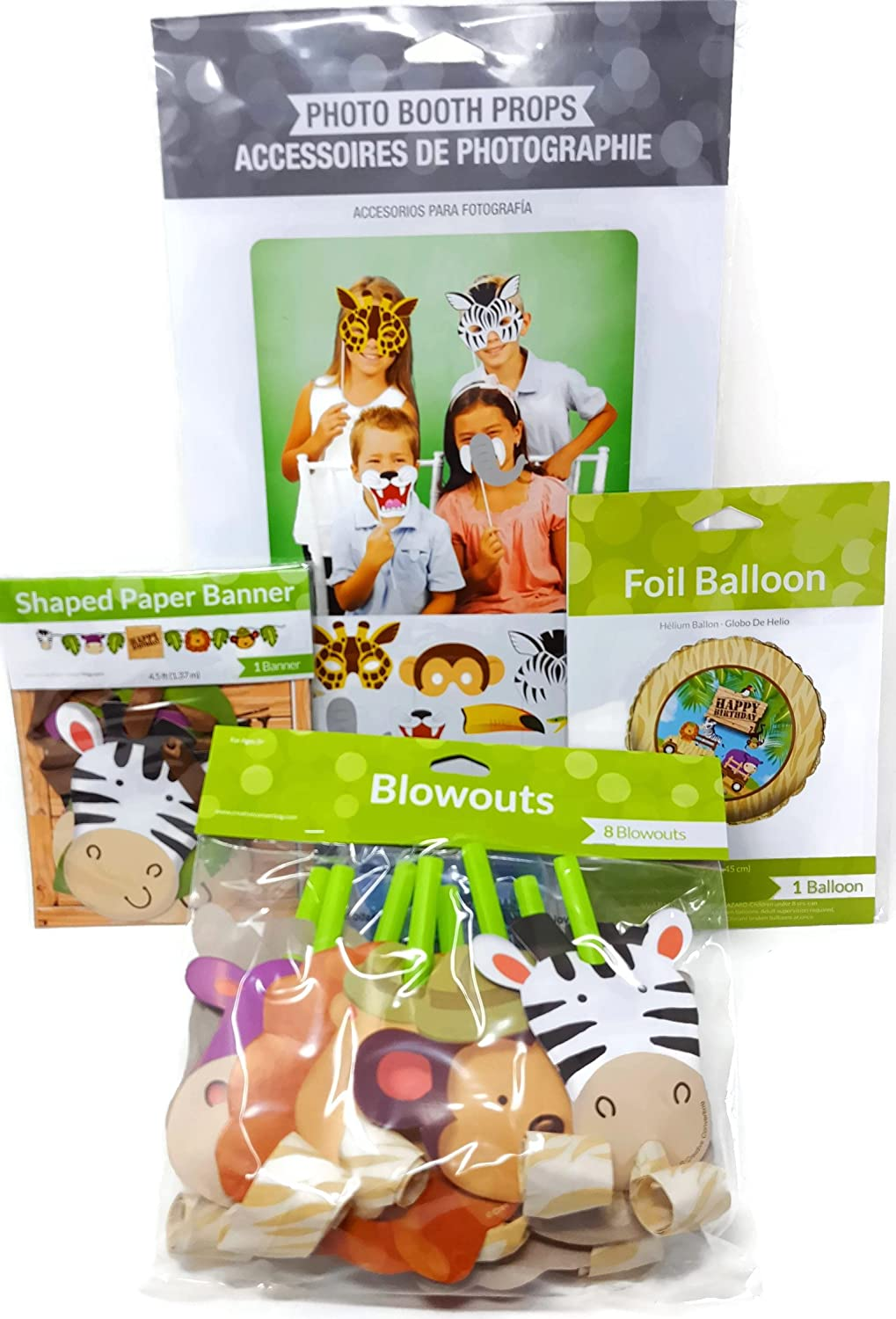 Amazon Com Shoppeshare Jungle Animal Safari Kids Birthday Party