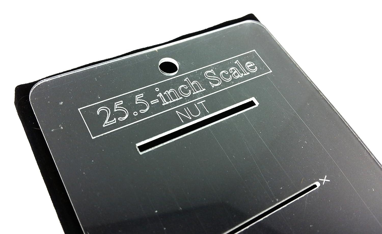 25.5-inch fretting escala marcas plantilla para guitarras - laser-cut-acrylic - Popular Guitarra Eléctrica escala como utilizar en Fender Telecaster (R) ...