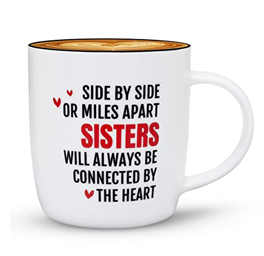 Gifffted Mejor Hermana Taza, Side by Side, Divertido Regalo ...