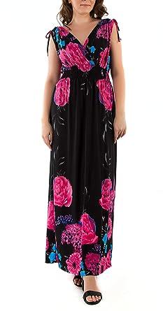 4ff67e99db826 Mia Suri Ladies V-Neck Elasticated Ruffled Waist Summer Beach Holiday Dress  Sundress L UK