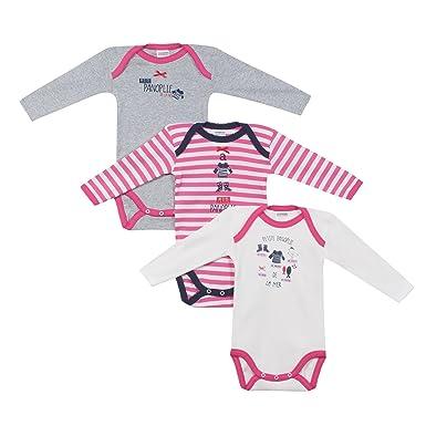 c438281a78feec Absorba Body Bébé Fille (Lot de 3)  Amazon.fr  Vêtements et accessoires