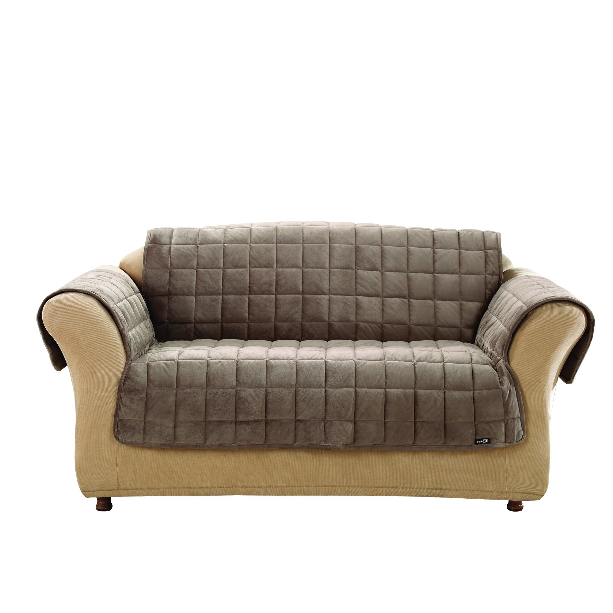 Sure Fit Deluxe Sofa Furniture Cover (with arms) - Sable