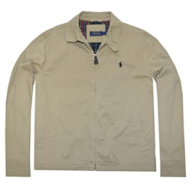 Polo Ralph Lauren Mens Canvas Jacket (Tan , X-Large)