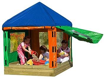 Gartenpirat Bac à Sable Toni en Bois avec pavillon / Tente de Jardin ...
