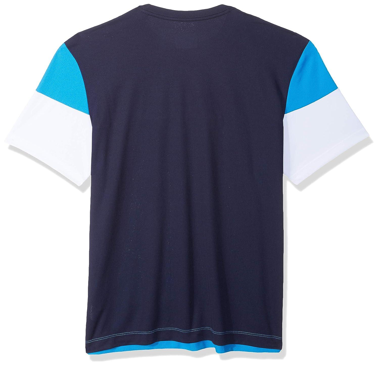 9729da06 Amazon.com: Lacoste Men's Sport Short Sleeve Ultra Dry Technical Color  Blocked T-Shirt: Clothing