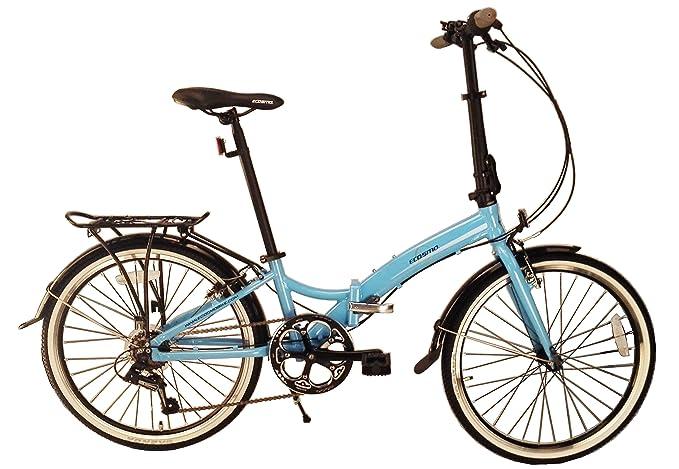 Bicicleta plegable ECOSMO 24AF02B, ligera, con ruedas de 24 ...