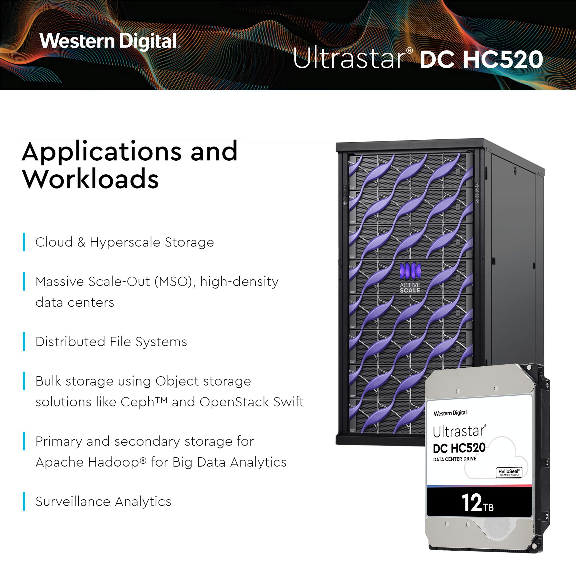 HGST - WD Ultrastar DC HC520 HDD | HUH721212ALE600 | 12TB 7.2K SATA 6Gb/s 256MB Cache 3.5-Inch | ISE 512e | 0F30144 | Helium Data Center Internal Hard Disk Drive by HGST (Image #5)