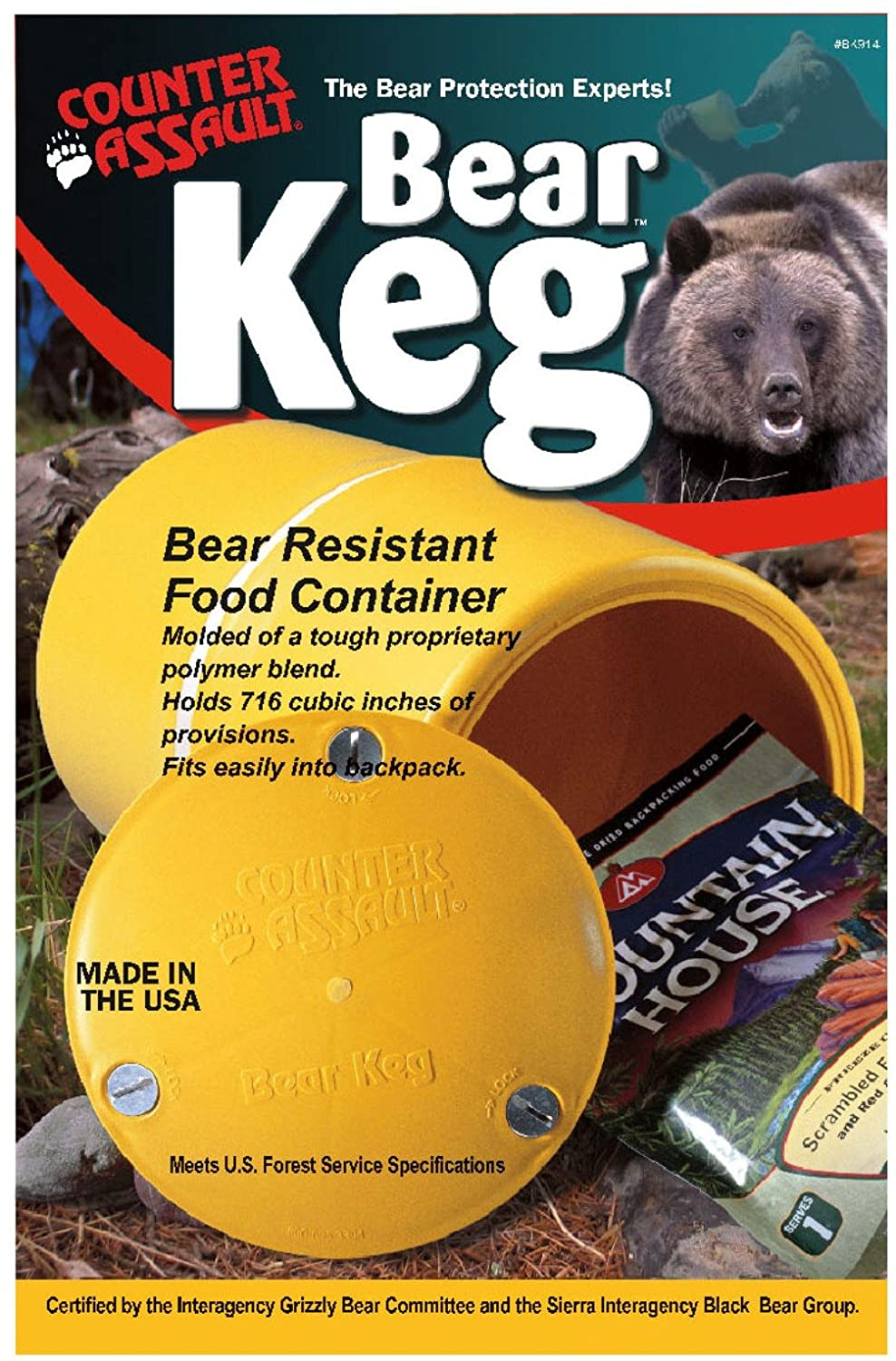 Counter Assault Bear Keg Food Container, 716 Cubic Inch BK-914