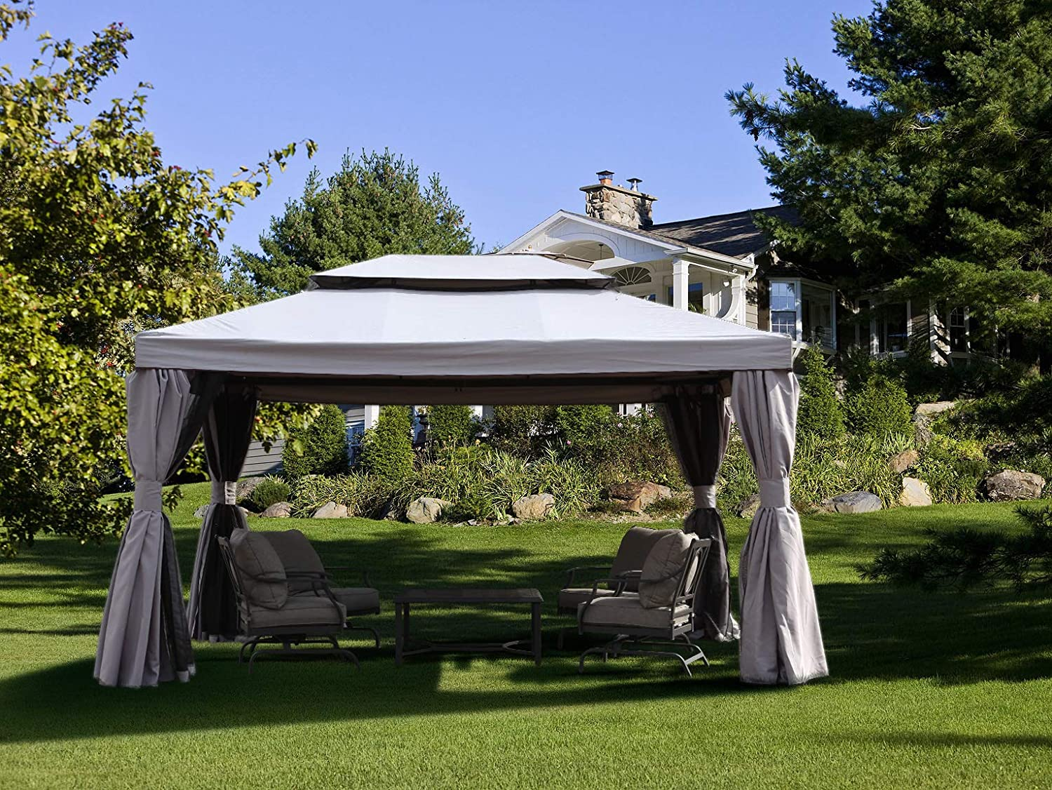 Grand patio Deluxe Gazebos para Patio: Amazon.es: Jardín