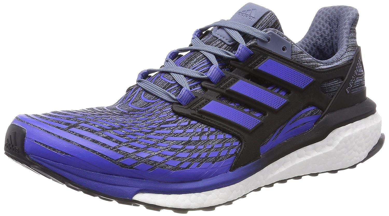 TALLA 44 2/3 EU. adidas Energy Boost M, Zapatillas de Running para Hombre, (Raw Steel/Hi-Res Blue/Core Black 0), 44 2/3 EU