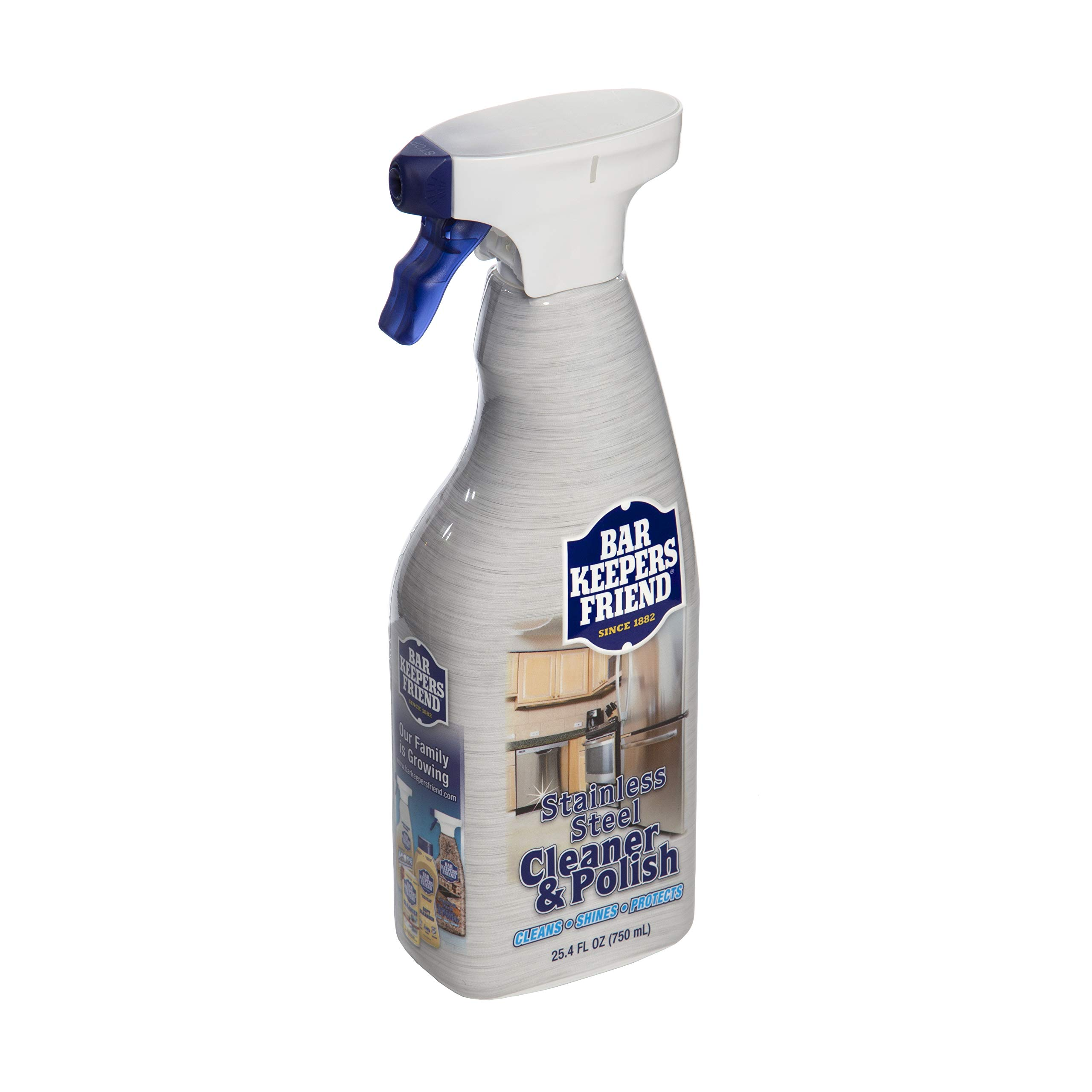 Bar Keepers Friend Stainless Steel Cleaner & Polish (25.4 oz) - Cleans Stainless Steel Refrigerators, Kitchen Sinks, Oven Doors, Oven Hoods, and Other Stainless Steel Surfaces (4) by  Bar Keepers Friend (Image #4)