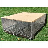 Alion Home Sun Block Dog Run & Pet Kennel Shade Cover Privacy Screen (Dog kennel not included) - No Black Trim - Beige