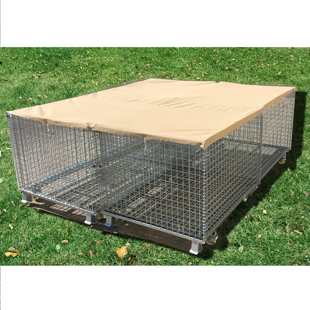 Alion Home Sun Block Dog Run & Pet Kennel Shade Cover (Dog kennel not included) - No Black Trim - Beige (12' x 26')