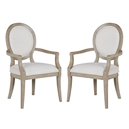 Stone & Beam Crawford Modern Wood Dining Room Kitchen Chairs with Arms,  38.75\