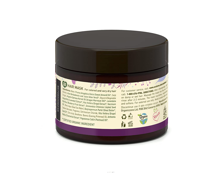 Amazon Com 100 Vegan Hair Mask By Ecolove Organic Blueberry Grape