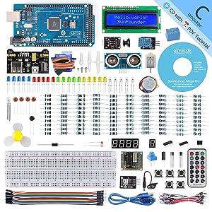 SunFounder Mega 2560 R3 Project Super Starter Kit with Mega 2560 Board Compatible with Arduino Mega 2560 R3 Mega328 Nano,25 Tutorials Included