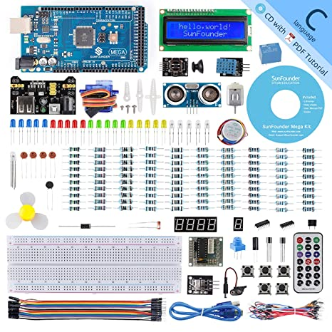 SunFounder Mega 2560 R3 Project Super Starter Kit for Arduino UNO R3  Mega2560 Mega328 Nano,25 Tutorials Included