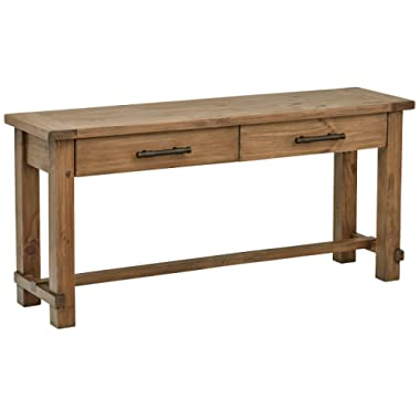 Stone & Beam Ferndale Rustic Console Table, 63 W, Sandstone