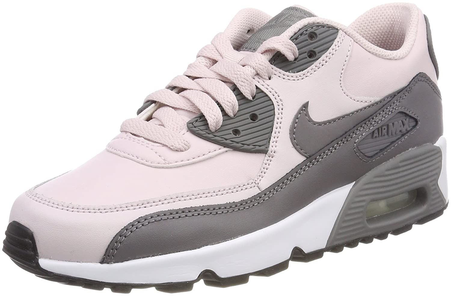 best service 1babb a93fc Amazon.com   Nike Air Max 90 Leather (Kids)   Shoes