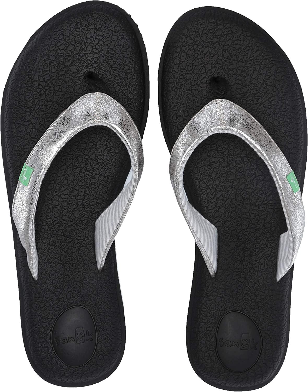 Sanuk Womens Yoga Chakra Metallic Sandals