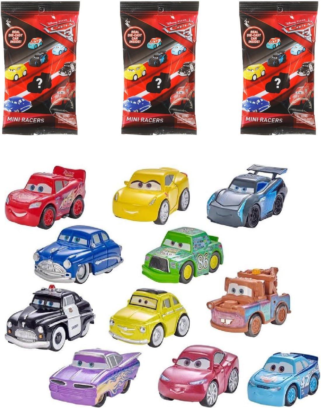 Disney Pixar Cars 3 Mini Racers Véhicules Set de 10 Cars
