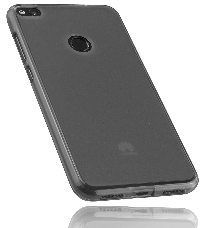 mumbi Funda Compatible con Huawei P8 Lite (2017) Caja del teléfono móvil, Negro Transparente: Amazon.es: Electrónica