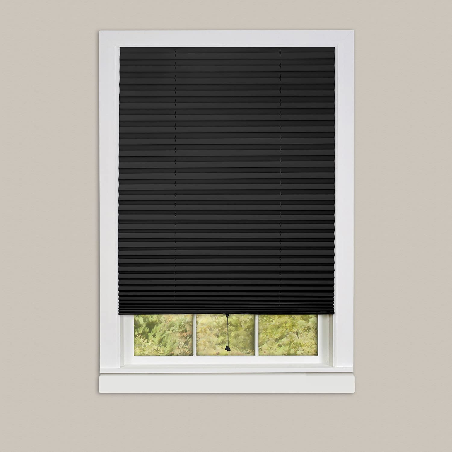 Achim Home Furnishings 1-2-3 Vinyl Room Darkening Temporary Pleated Window Shade
