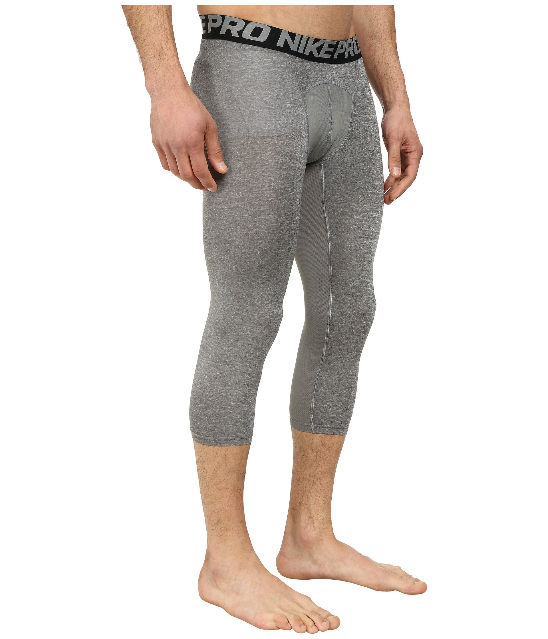 Nike Men's Pro 3/4 Tights (3XL, Carbon Heather/Black/Black) by Nike (Image #5)