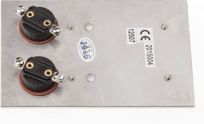 2/capas rasante Rectangular con espacio para nombre Huber timbre Acero inoxidable 12502