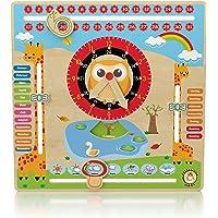 """Clever Toy Depot Holz KALENDERUHR """"Mein Erster Kalender"""" – Kinder LERNUHR 30x30cm by CLEVERTOYDEPOT"""