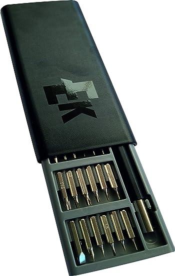 Practico set magnetico de destornilladores pequeños de precision, en practico estuche de ABS con cierre automatico: Amazon.es: Bricolaje y herramientas